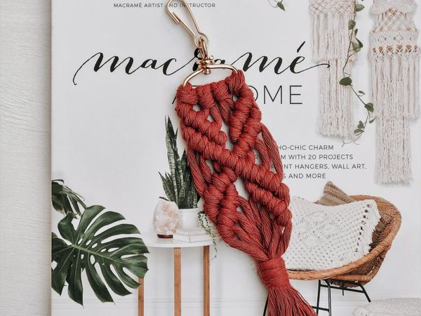How To Weave Macrame Keychain. Pattern For Beginners | Livemaster - handmade