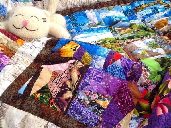 Как простегать лоскутное одеяло? | Ярмарка Мастеров - ручная работа, handmade