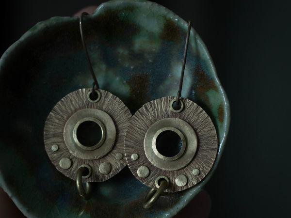 Мастер-класс: серьги из металла без пайки | Ярмарка Мастеров - ручная работа, handmade