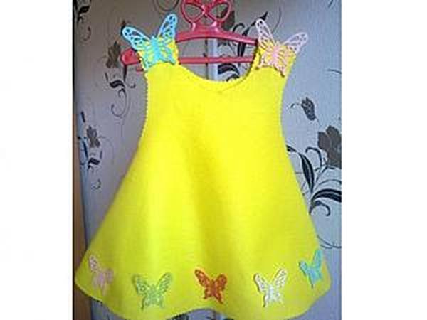 Шьем солнечное платье из Фетра: