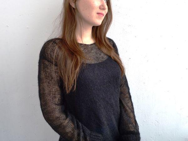 Новые пуловеры! Полупрозрачные из кидмохера, тонкие и легкие! | Ярмарка Мастеров - ручная работа, handmade