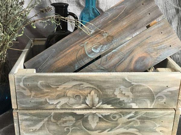 Роспись мебели. Имитация состаренного дерева | Ярмарка Мастеров - ручная работа, handmade