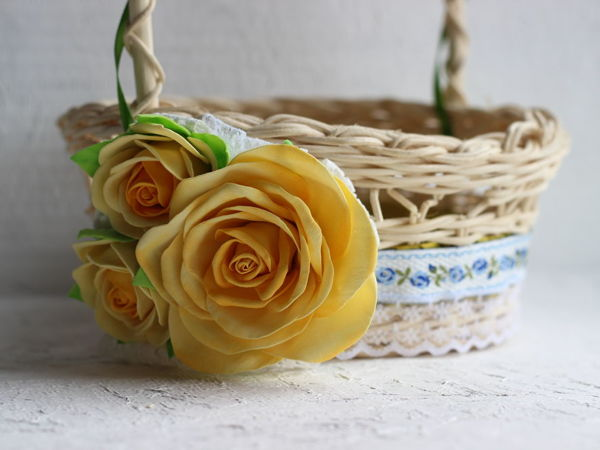 Как украсить корзину к Пасхе | Ярмарка Мастеров - ручная работа, handmade