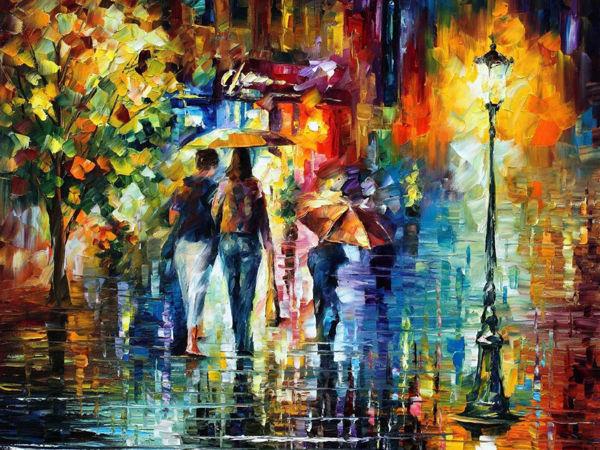 Художник, что рисует яркий дождь | Ярмарка Мастеров - ручная работа, handmade