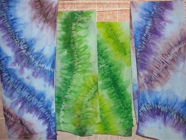 Расписываем шарф в узелковой технике | Ярмарка Мастеров - ручная работа, handmade