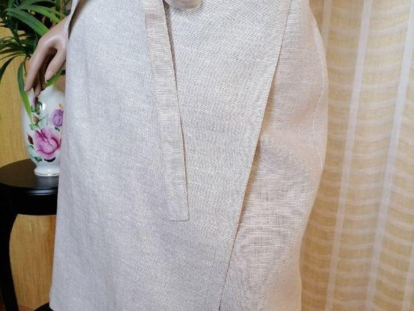 Юбка льняная с запахом   Ярмарка Мастеров - ручная работа, handmade
