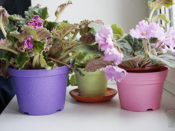 Преображение пластмассовых цветочных горшков | Ярмарка Мастеров - ручная работа, handmade