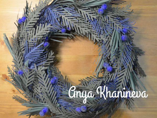 Изготавливаем рождественский венок «Зимний день» | Ярмарка Мастеров - ручная работа, handmade