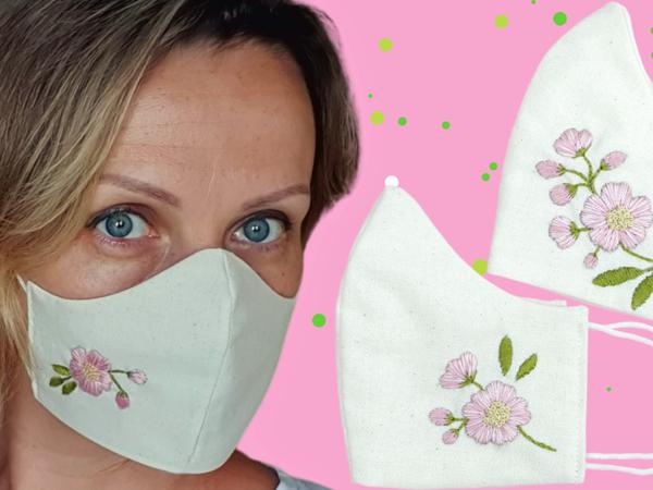 Шьем маски с вышивками | Ярмарка Мастеров - ручная работа, handmade