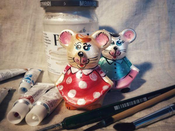 Мастер-класс по росписи мышки | Ярмарка Мастеров - ручная работа, handmade