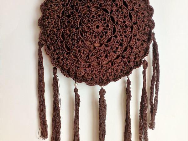 Вяжем крючком оригинальную сумку «Ловец снов» | Ярмарка Мастеров - ручная работа, handmade