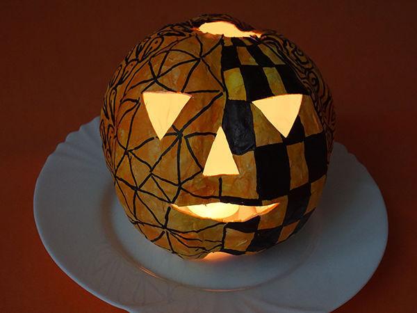 Тыква для Хэллоуина в технике папье-маше | Ярмарка Мастеров - ручная работа, handmade