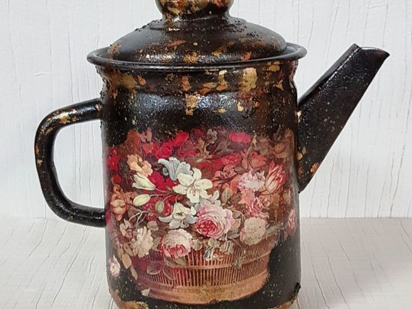 Новый МК!  «Старинный кофейник»   декупаж | Ярмарка Мастеров - ручная работа, handmade