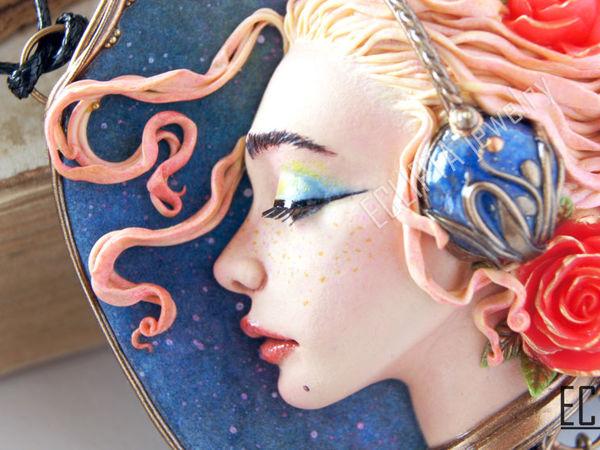 ВИДЕО. Кулон Music inside me из полимерной глины, скульптурная миниатюра   Ярмарка Мастеров - ручная работа, handmade