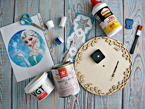 Мастерим новогодний подарок — часы «Холодное сердце» | Ярмарка Мастеров - ручная работа, handmade