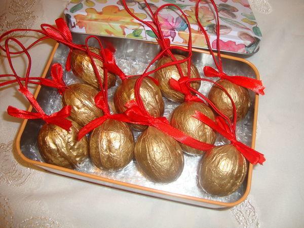 Золотые орехи с предсказаниями | Ярмарка Мастеров - ручная работа, handmade