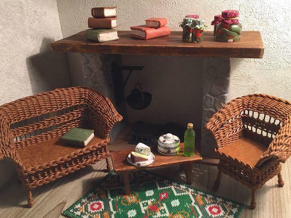 Кукольная мебель плетеная   Ярмарка Мастеров - ручная работа, handmade