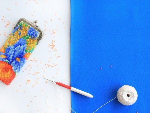Видео мастер-класс: осваиваем вязание бисером. Урок 21. Прямое полотно с обрывом нити | Ярмарка Мастеров - ручная работа, handmade