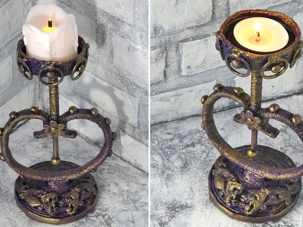 Video Tutorial: Chic Paper Candle Holder | Livemaster - handmade