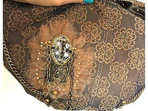Реставрация сумки в винтажном стиле | Ярмарка Мастеров - ручная работа, handmade