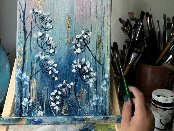 Создаем интерьерную картину с поталью | Ярмарка Мастеров - ручная работа, handmade