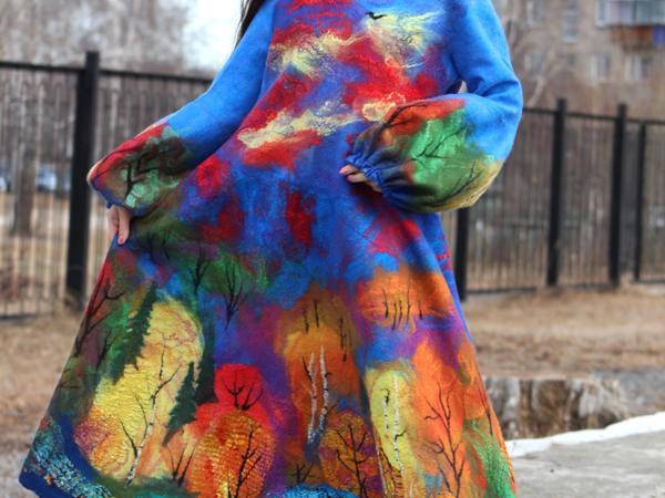 Платье  «Счастливая Осень» | Ярмарка Мастеров - ручная работа, handmade