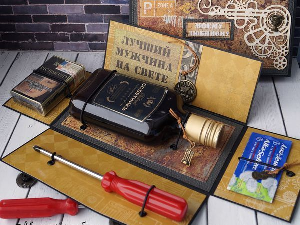 Создаём и оформляем подарок с «мужским характером» для любимых   Ярмарка Мастеров - ручная работа, handmade