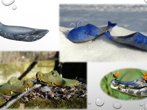 Киты и крокодилы. Видео-курс по валянию тапок-шлёпок | Ярмарка Мастеров - ручная работа, handmade