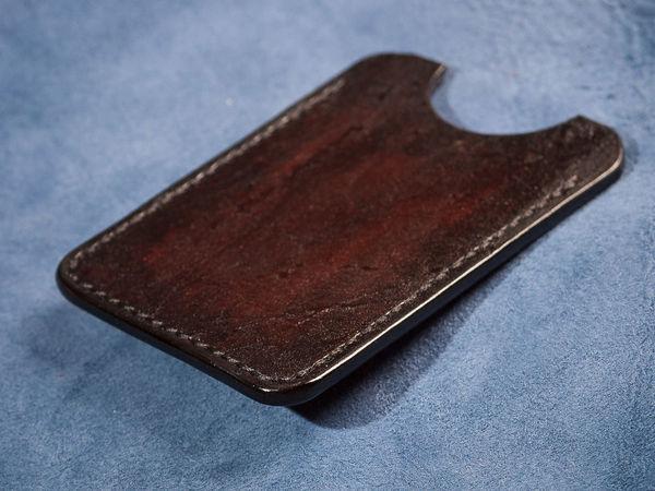 Процесс изготовления кардхолдера из натуральной кожи | Ярмарка Мастеров - ручная работа, handmade