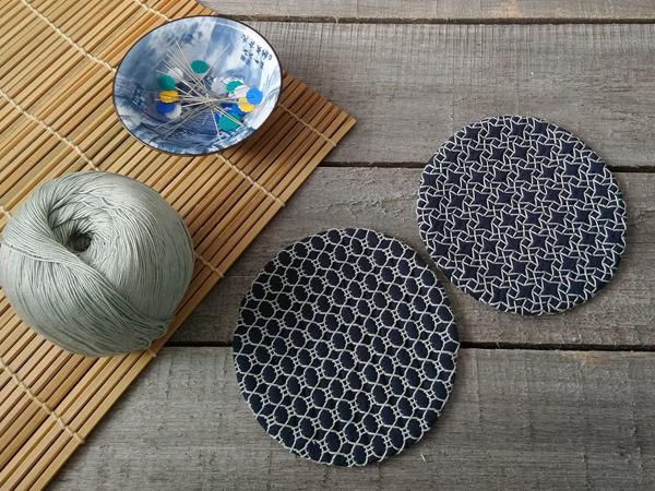 Делаем подставку под чашку с японской вышивкой «Сашико» | Ярмарка Мастеров - ручная работа, handmade