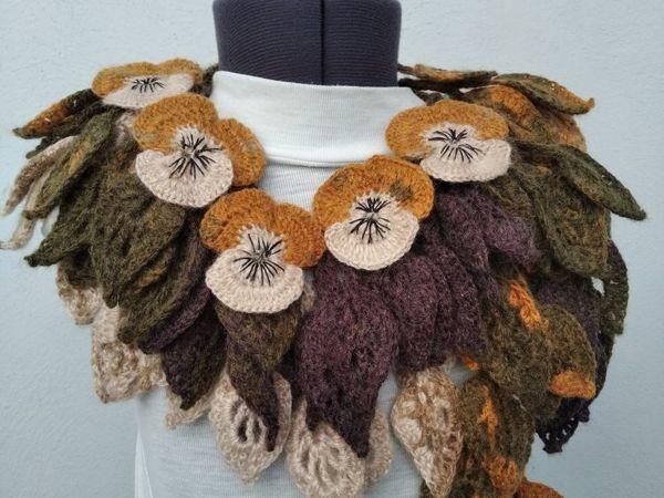Новый оригинальный шарфик  «Городские цветы»   Ярмарка Мастеров - ручная работа, handmade