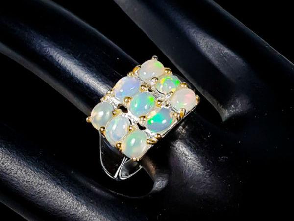 Видео кольцо с опалом | Ярмарка Мастеров - ручная работа, handmade