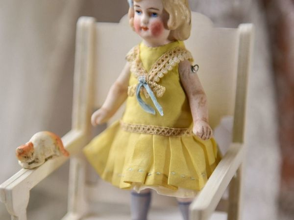 Антикварная фарфоровая куколка | Ярмарка Мастеров - ручная работа, handmade