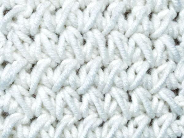 Вяжем эффектный узор крючком | Ярмарка Мастеров - ручная работа, handmade