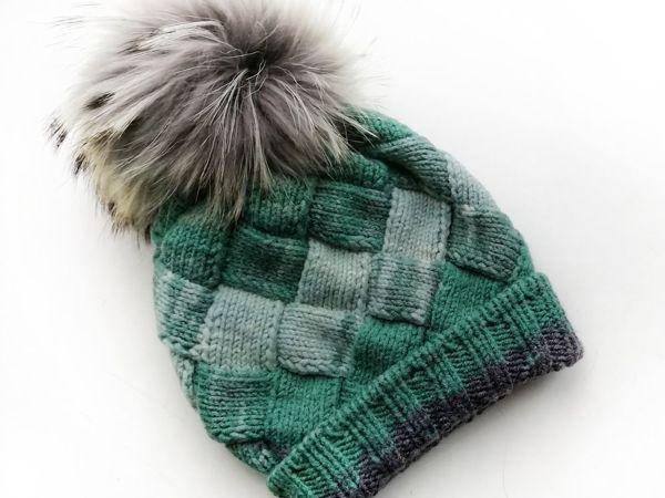 Как связать шапку энтерлак | Ярмарка Мастеров - ручная работа, handmade
