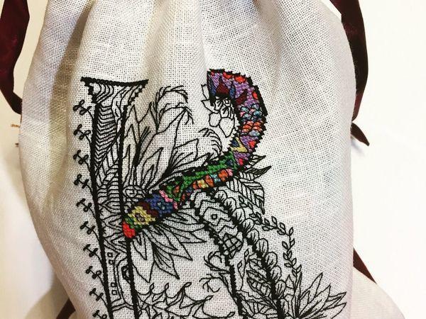 Именной мешочек для упаковки   Ярмарка Мастеров - ручная работа, handmade