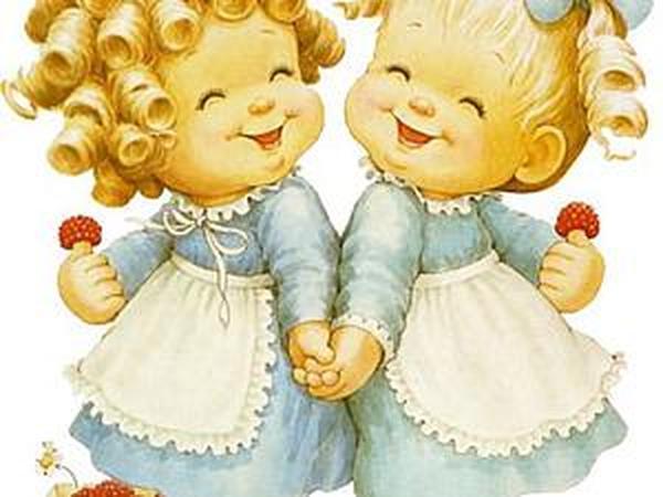 Открытки с годиком близнецов девочек, открытки 2012 года