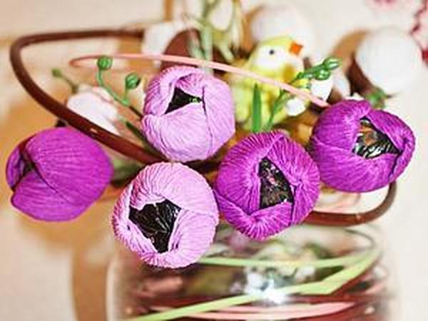 Пасхальная композиция с конфетами. Мастер-класс | Ярмарка Мастеров - ручная работа, handmade