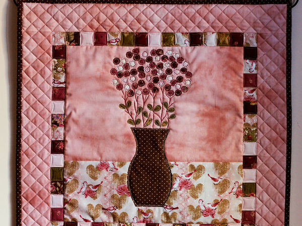 Creating a Patchwork Panel ''Quiet Morning'' | Livemaster - handmade