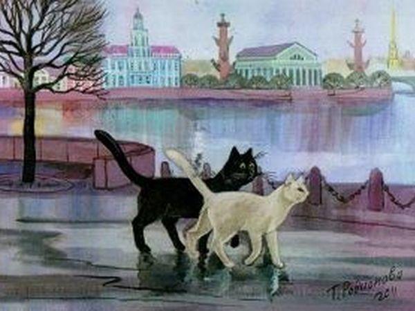 Любовь к кошкам глазами художницы Татьяны Родионовой | Ярмарка Мастеров - ручная работа, handmade