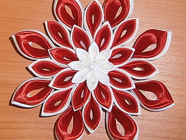 Создание цветка канзаши   Ярмарка Мастеров - ручная работа, handmade