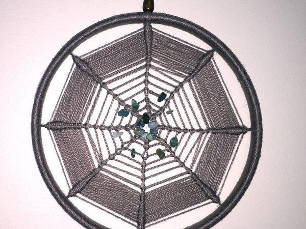 Создаем «ловец снов» — плетем интересную паутину для интерьера | Ярмарка Мастеров - ручная работа, handmade