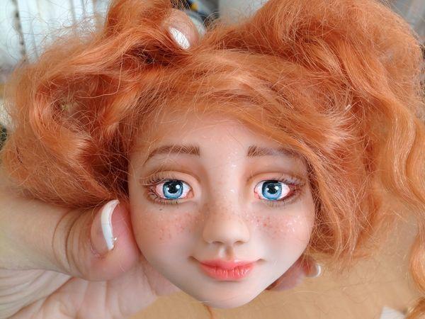 Лепка головы куклы из запекаемого пластика. Видео мастер-класс | Ярмарка Мастеров - ручная работа, handmade