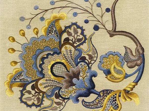 Якобинская вышивка, крюил, художественная гладь: расставляем точки над «i» | Ярмарка Мастеров - ручная работа, handmade