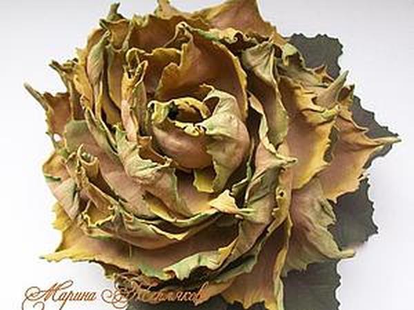 Создаем цветок из листьев   Ярмарка Мастеров - ручная работа, handmade