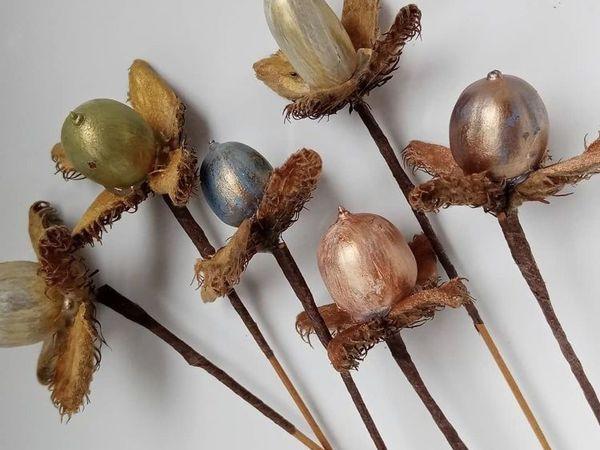 Декоративный цветок из сухоцветов   Ярмарка Мастеров - ручная работа, handmade