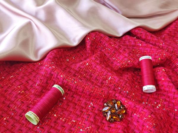 Плательно-костюмная ткань с люрексом и пайетками | Ярмарка Мастеров - ручная работа, handmade