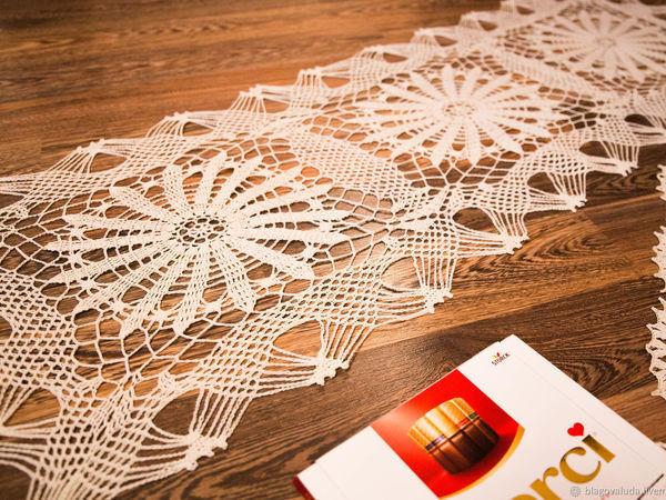 Как придать форму скатерти-дорожке | Ярмарка Мастеров - ручная работа, handmade