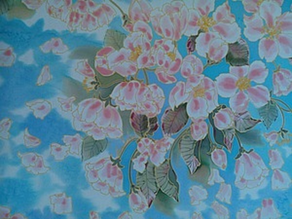 познакомились супруги яблони в цвету батик картинки это
