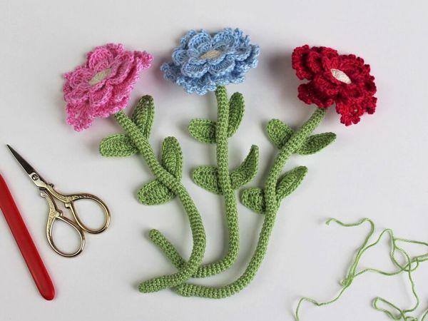 Цветок крючком | Ярмарка Мастеров - ручная работа, handmade